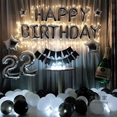 氣球 生日快樂party成人浪漫情侶派對布置套餐鋁膜氣球字母裝飾用品 3色