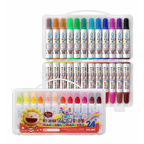 電視廣告促銷 奶油獅 BLW-24B  水洗彩色筆  24色 /盒
