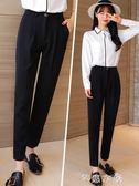 闊腿哈倫褲女西裝九分褲子學生寬鬆直筒毛呢新款秋季工裝 芊惠衣屋