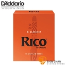 3號豎笛/黑管竹片►美國 RICO Bb Clarinet (10片/盒)【橘包裝】