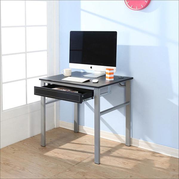 【澄境】 I-B-DE045BK-DR 低甲醛仿馬鞍皮80公分單抽屜穩重型工作桌