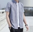 襯衫男短袖2021春夏季新款半袖男韓版潮流商務休閒帥氣襯衣 3C優購