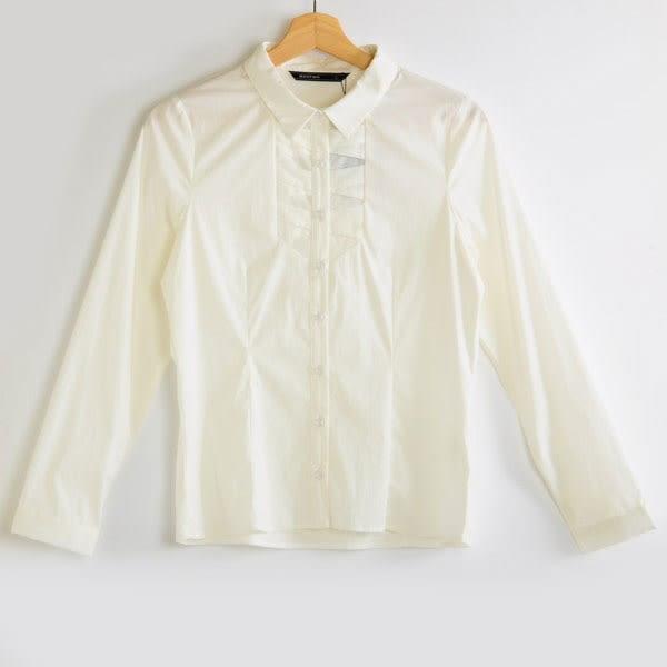 【MASTINA】素面質感百搭襯衫-白  秋裝限定嚴選