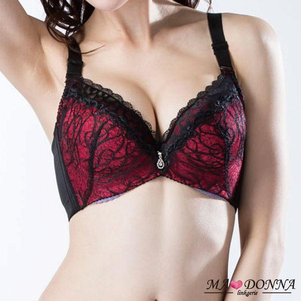 華麗豐波集中包覆胸罩 B-C罩 成套組2667 機能 收副乳 深V 內衣 內褲 34 36 38 黑 紅 藍