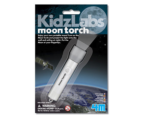 【4M】03310 美勞創作-月光投影燈 Moon Torch