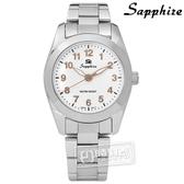 SE Sapphire / SE013L01WG / 簡潔大方夜光藍寶石水晶不鏽鋼手錶 白x玫瑰金 29mm