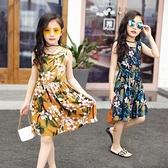 女童洋裝 女童純棉連身裙中小童女孩人造棉夏天棉綢裙子童裝薄款透氣沙灘裙【快速出貨】