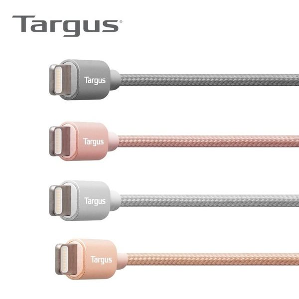 Targus 鋁製 系列 Lightning 充電 原廠認證 編織 傳輸線 適用 iPhone iPad