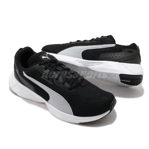 Puma 慢跑鞋 Space Runner 黑 白 男鞋 輕量避震 運動鞋【ACS】 19372301