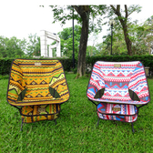 【LIFECODE】羽量級-民族風輕巧蝴蝶椅-黃色+紅色(2入組)