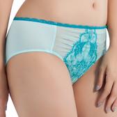 思薇爾-撩波芙蓉之戀系列M-XXL蕾絲中腰三角內褲(青苗綠)