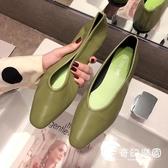 豆豆鞋-鞋子女春夏新款復古豆豆鞋chic方頭淺口平底溫柔奶奶鞋潮-奇幻樂園