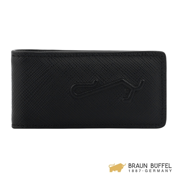 【BRAUN BUFFEL】大富翁-Ⅱ系列吸鐵錢夾 - 黑色 BF356-190-BK