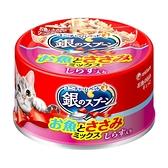 銀湯匙 貓罐頭雞肉+吻仔魚(70gx24罐/箱)-箱購