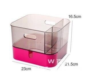 首飾收納盒 公主飾品化妝梳妝盒 擺桌面 紅粉色