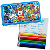 〔小禮堂〕妖怪手錶 日製盒裝12色鉛筆《藍.多角色.2》增添學習樂趣4901772-69041