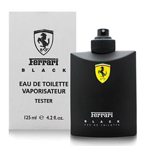 Ferrari 黑色法拉利男性淡香水 125ml-Tester包裝