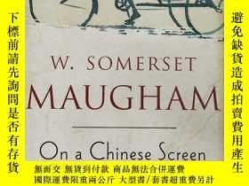 二手書博民逛書店On罕見a Chinese Screen 【英文原版, 佳】Y11617 W.Somerset Maugham