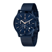 MASERATI 瑪莎拉蒂 經典湛藍系米蘭帶腕錶42mm(R8873618010)