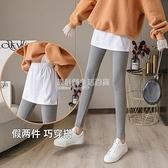 實拍2020冬季新款韓版潮修身百搭親膚加絨保暖打底褲假兩件褲裙女 設計師生活百貨