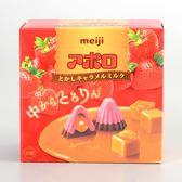 【明治】阿波羅草莓夾餡巧克力(焦糖口味)44g(賞味期限:2019.05)
