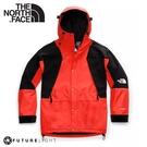 【The North Face 男 ICON 防水防風外套(美版)《橘/黑》】4R52/衝鋒衣/防水外套/風雨衣