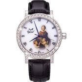 Ogival 瑞士愛其華文藝復興系列琺瑯機械腕錶-草地上的聖母