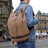 男韓版帆布運動後背包休閒旅行包