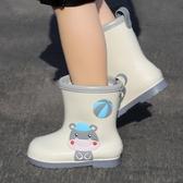 兒童雨鞋男童小童幼兒防滑輕便水鞋一體女童寶寶套鞋小 洛小仙女鞋