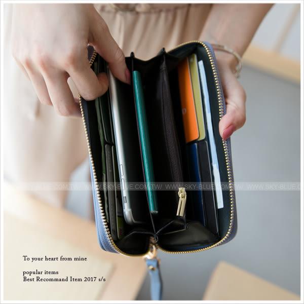 皮夾-知性幾何撞色長夾/手拿包-共3色-A08080676-天藍小舖