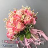 仿真玫瑰新娘結婚手捧花歐式繫列香檳色粉色店主推薦【奇貨居】