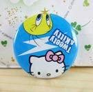 【震撼精品百貨】Hello Kitty 凱蒂貓~KITTY別針-圓形造型-藍閃電