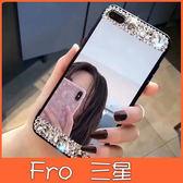 三星 S10 S10+ S10e Note9 S9 S9 Plus 黑邊境面鑽殼 手機殼 全包邊 水鑽 鏡面 軟殼