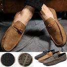扭結反絨皮懶人豆豆鞋 3色 39-44碼【H601207】