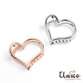 UNICO 簡約時尚質感金屬小號盤髮夾/髮飾-2入(銀+玫瑰金)