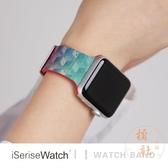 適用蘋果手表iwatch錶帶applewatch1/2/3/4代硅膠運動印花【橘社小鎮】