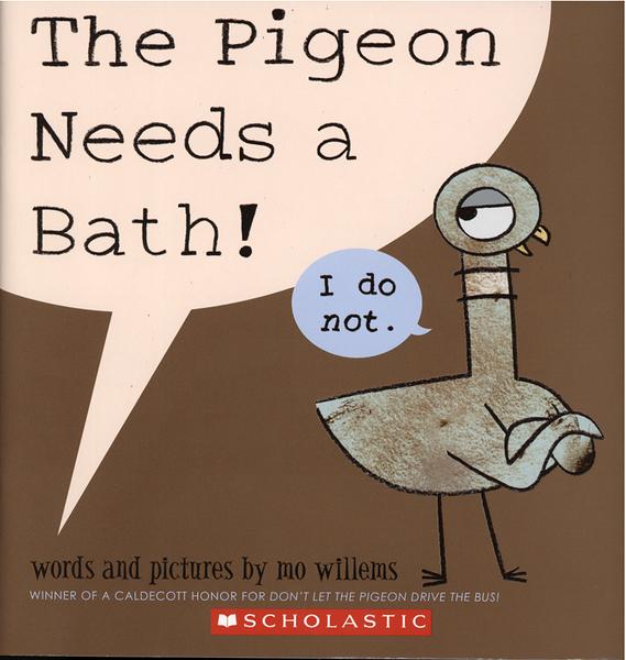 【麥克書店】THE PIGEON NEEDS A BATH /英文繪本 (Mo Willems/頑皮鴿子/楊禎禎)
