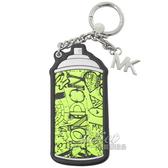 茱麗葉精品【全新現貨】MICHAEL KORS 街頭塗鴉噴罐造型鑰匙吊飾.螢光綠