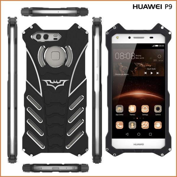 蝙蝠俠 HUAWEI 華為 P9 手機殼 金屬邊框 5.2吋 手機套 航空鋁 散熱 p9 保護殼 超強防護 華為p9 保護套