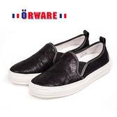 ORWARE-MIT舒適亮珠光休閒板鞋 652031-02(黑)