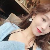 月光拾貝珍珠耳墜女氣質韓國簡約百搭耳環甜美貝殼耳夾無耳洞E017