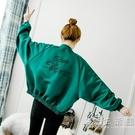緞面刺繡夾克棒球服女ins潮2020春秋新款韓版寬鬆百搭風衣短外套 小時光生活館