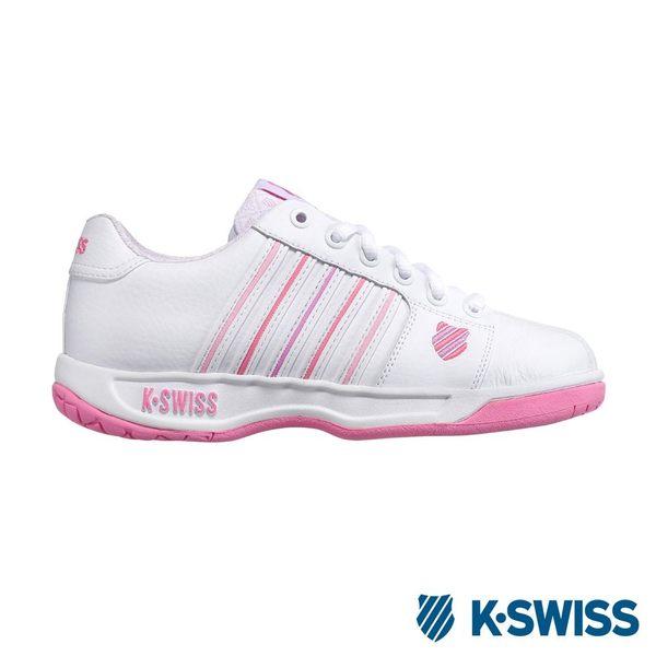 K-Swiss Eadall休閒運動鞋-女-白/粉紅/粉紫