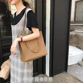 韓版純色半圓簡約單肩斜背包男女休閒書包肩帶可調節 米蘭潮鞋館