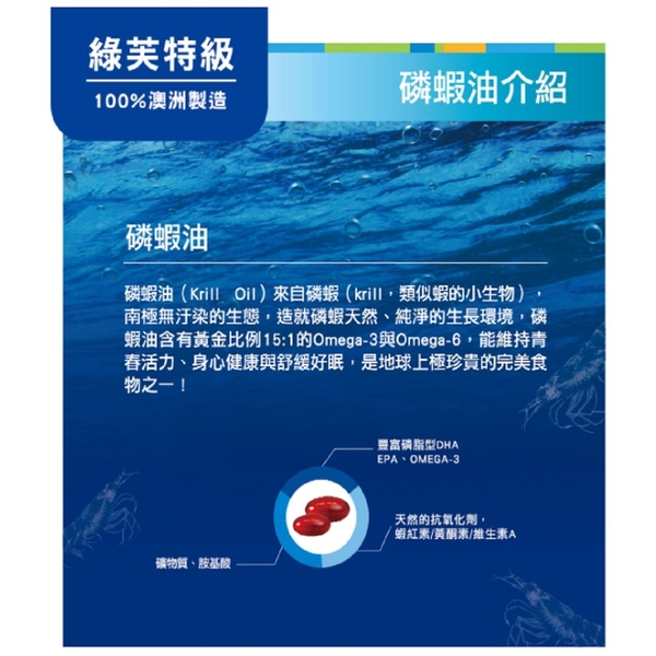 綠芙特級 南極磷蝦油複合膠囊 (60顆/罐)【醫妝世家】 磷蝦油 Homart 活曼特