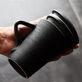 帶過濾大容量杯子簡約禮品水杯復古時尚 馬克杯帶蓋帶勺   mandyc衣間
