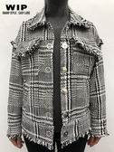 新品2% 2% X WIP格紋抽鬚造型夾克 AW