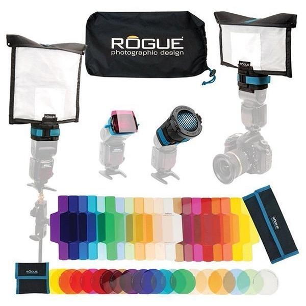 黑熊館 美國 Rogue LF-5050 專業移動式燈光套組 濾色片 柔光幕 反光板 蜂巢罩