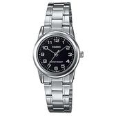 【CASIO】經典淑女時裝數字指針腕錶-黑面(LTP-V001D-1B)