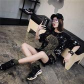 2018新款韓版潮寬松中長款短袖t恤女網紅同款社會衣服學生bf上衣